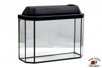 Аквариум черный с пластиковой крышкой 30 л