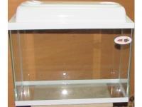 аквариум белый с пластиковой крышкой 40 л